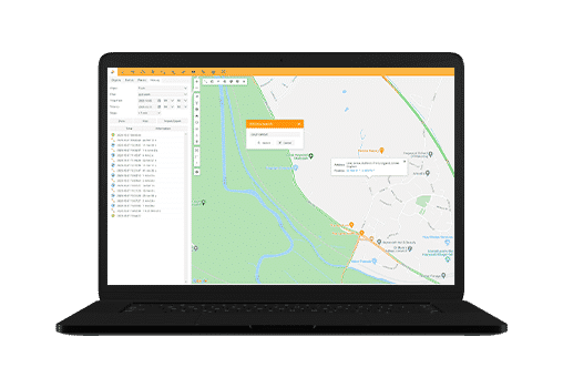adress search with gps tracking platform