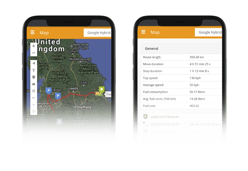 real time data with gps tracking system